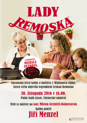 Plakát na křest knihy Lady Remoska